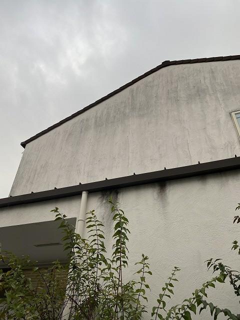 Before雨樋のオーバーフロー